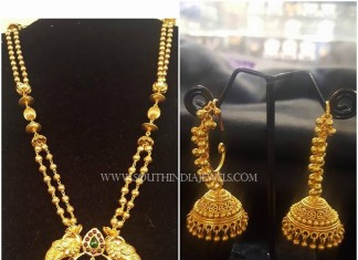 Two Layer Gold Haram and Jhumka