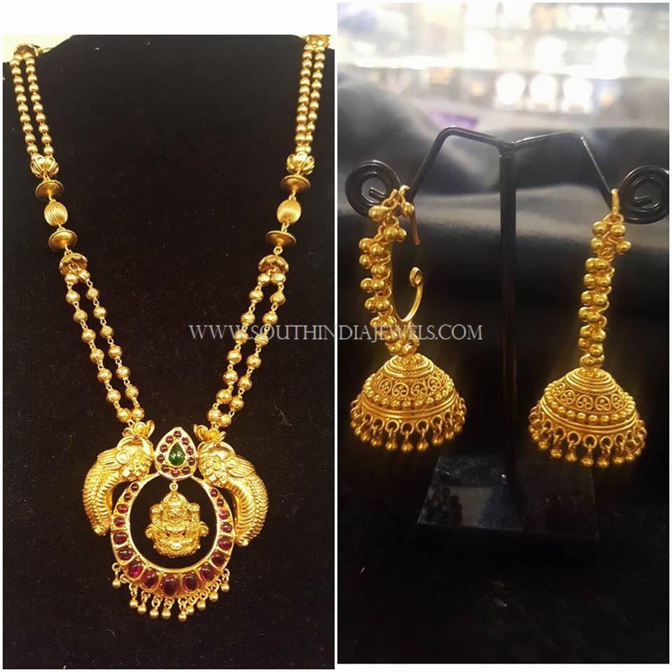 Two Layer Gold Haram and Jhumka