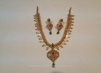 Uncut Diamond Coin Necklace