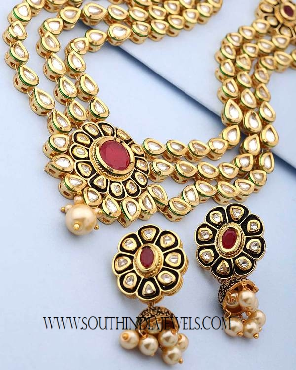 Artificial Heavy Bridal Jewellery Set South India Jewels