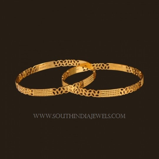 Gold Bangle Design For Daily Use South India Jewels