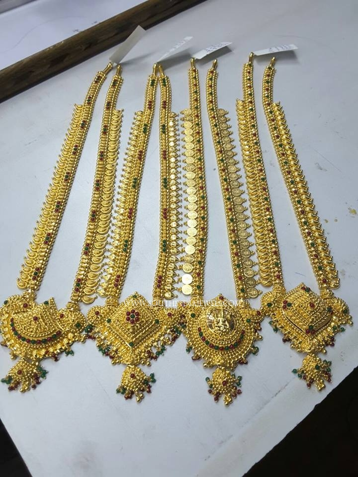 Latest Gold Haram Designs 2017 South India Jewels