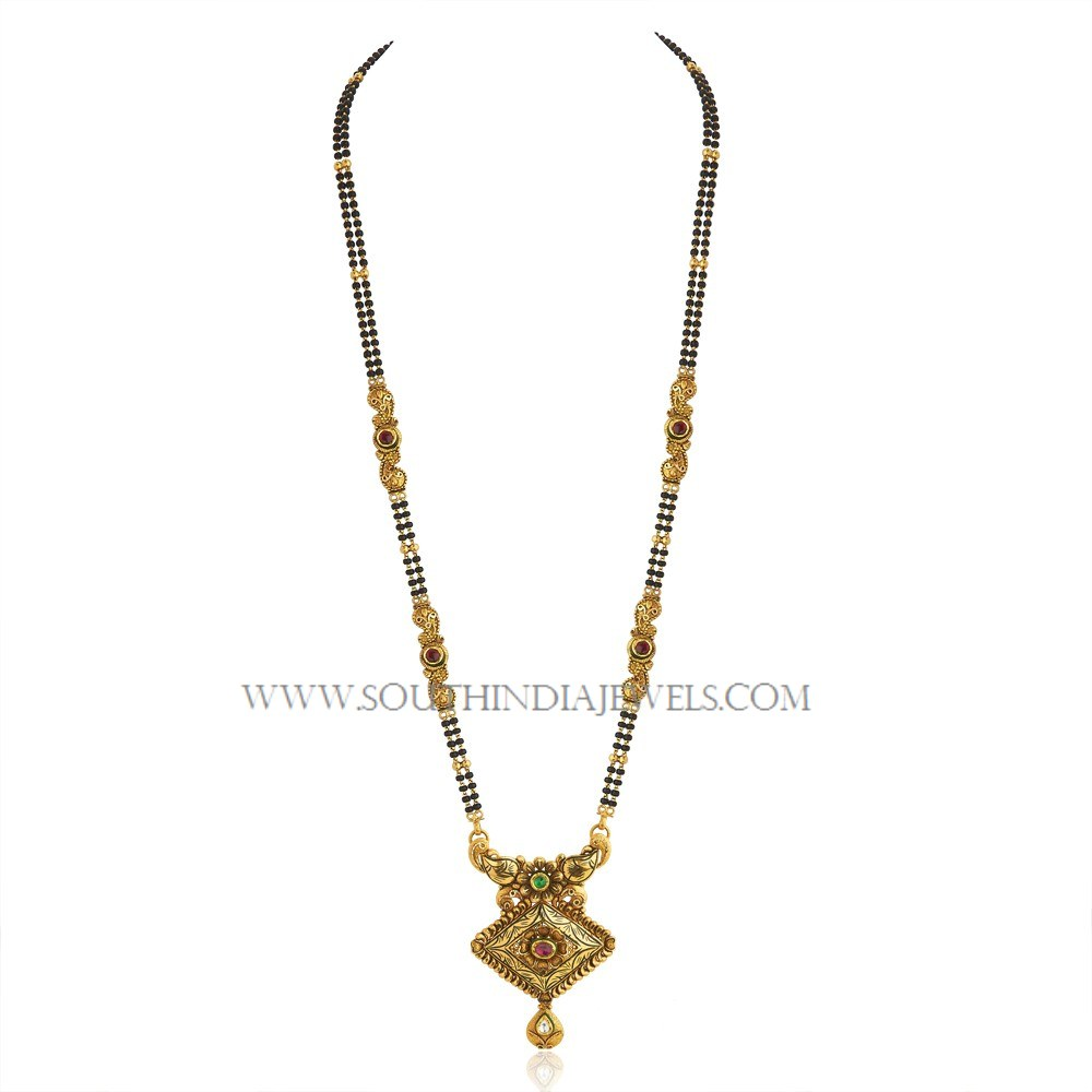 Gold Long Mangalsutra Designs with Price ~ South India Jewels