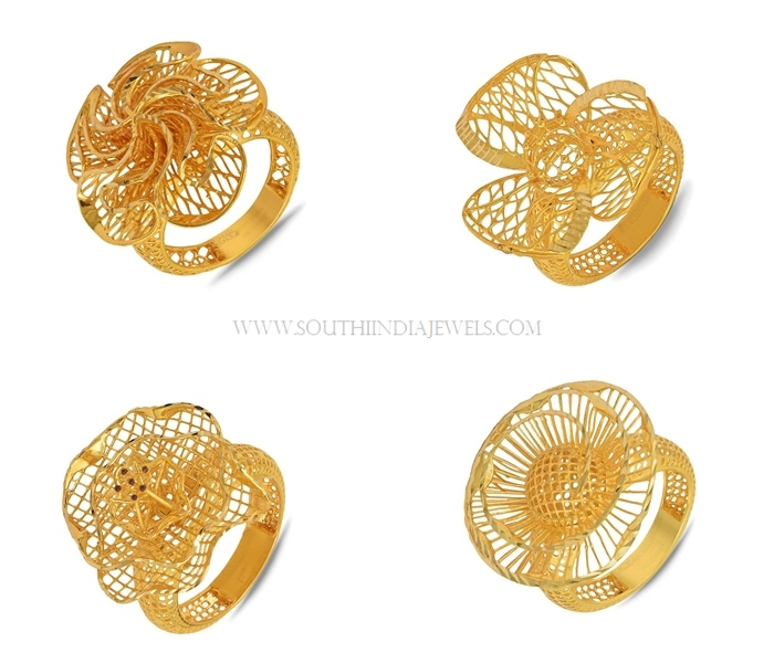 ladies product mixed market yellow bundle design women gold set rings