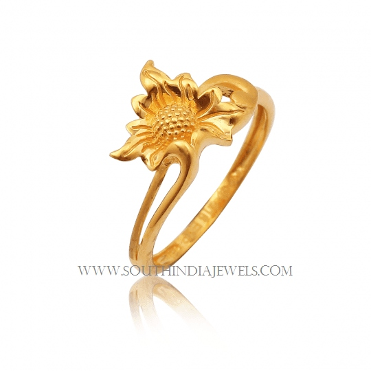 gold ring design for without south india jewels