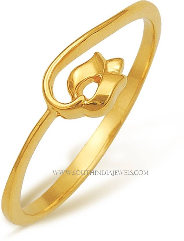 Gorgeous Gold Rings with Price Below 6000 South India Jewels