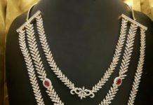 Imitation AD Bridal Necklace Set