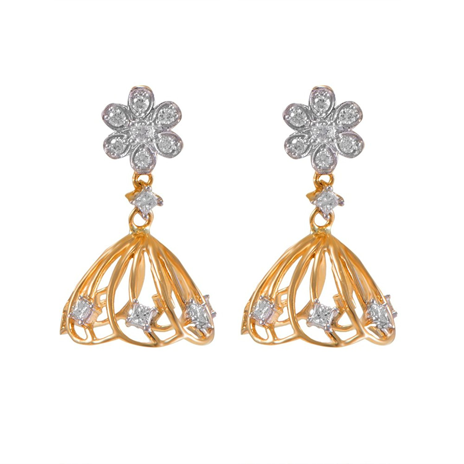 of earrings best gold for daily designs indian women with earring wear in cz