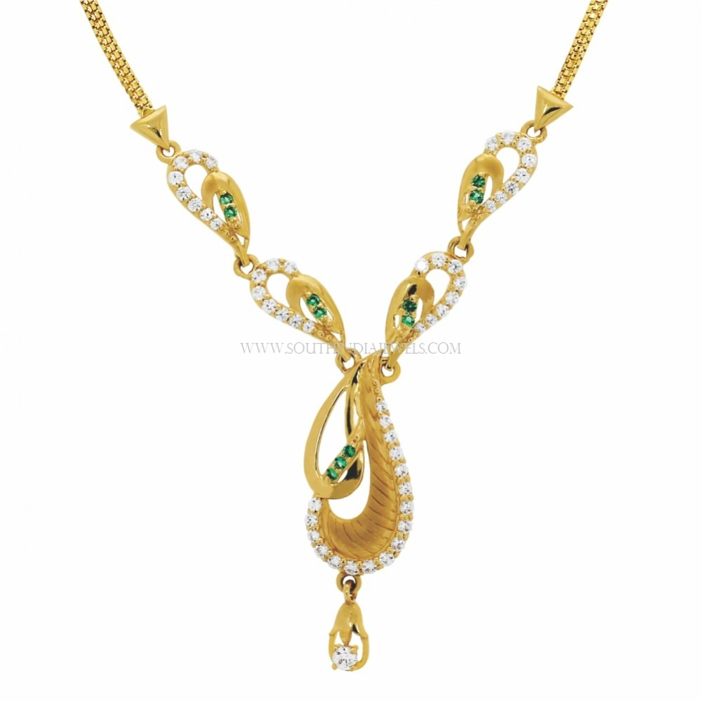Kalyan Jewellers Necklace Designs with Price ~ South India Jewels