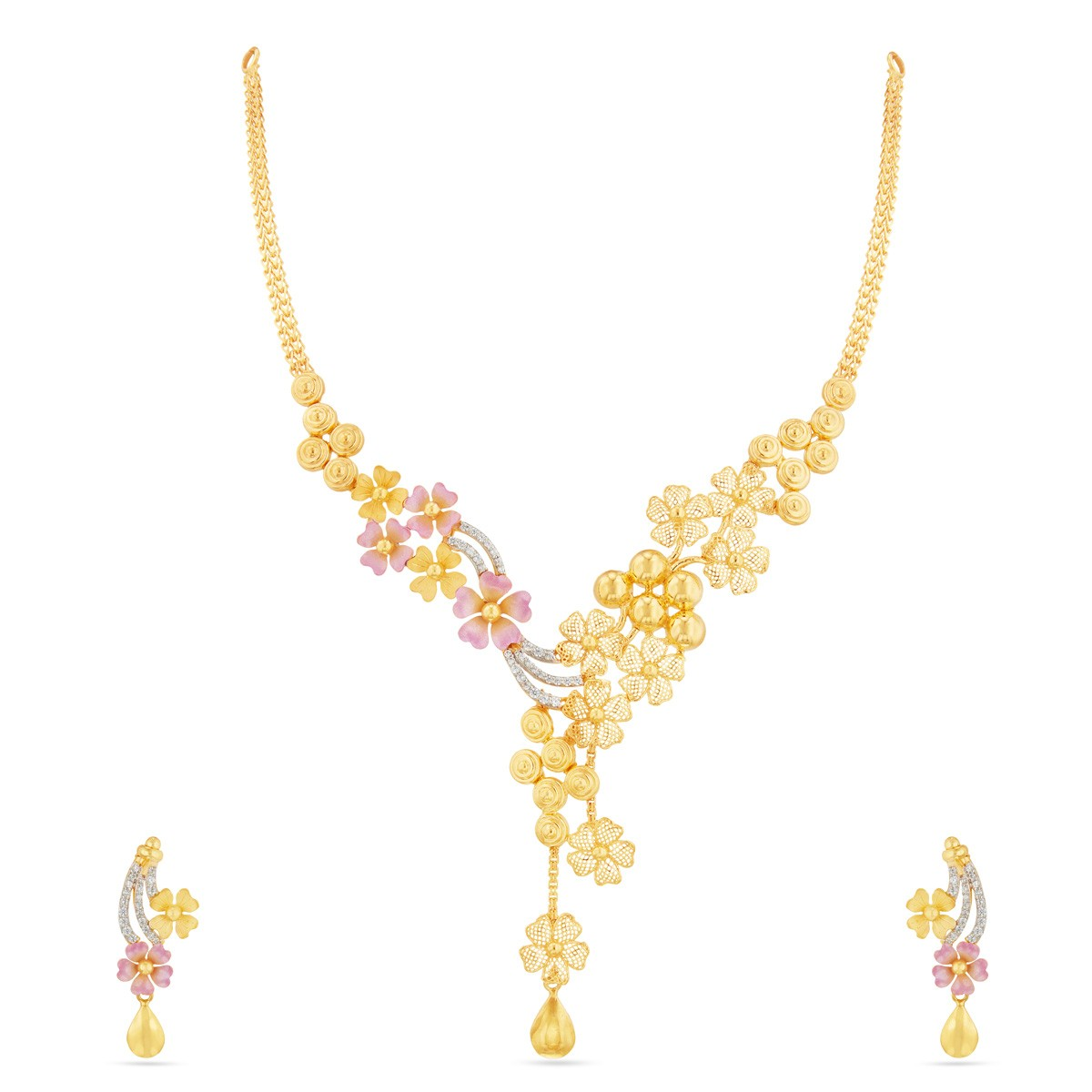 weight in designs gold with light south necklace rupees price