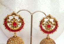 Ruby Pearl Jhumka Earrings