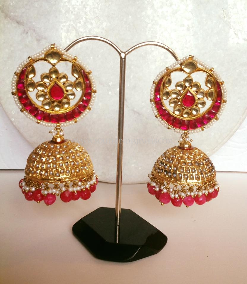 Ruby Pearl Jhumka Earrings
