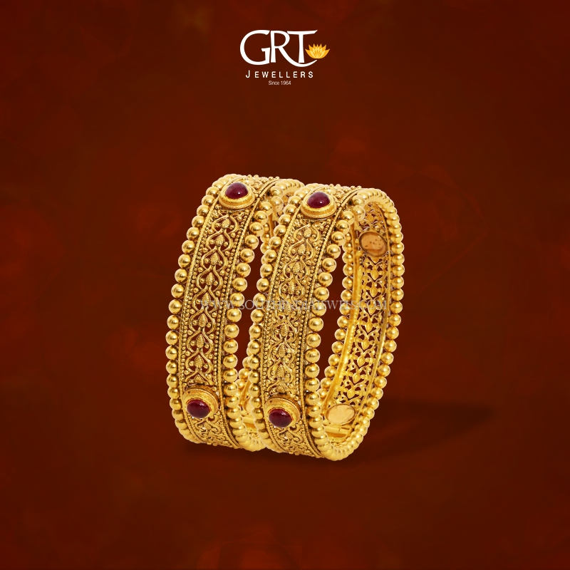 22K Gold Bridal Bangles From GRT
