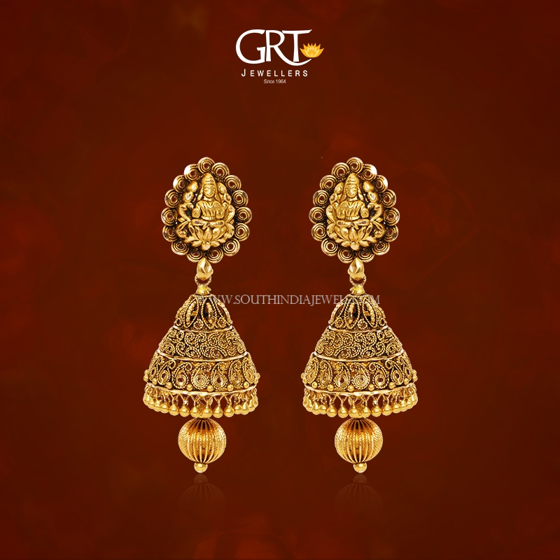 22K Gold Antique Jhumka 2017