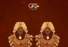 22K Gold Chandbali Earrings From GRT