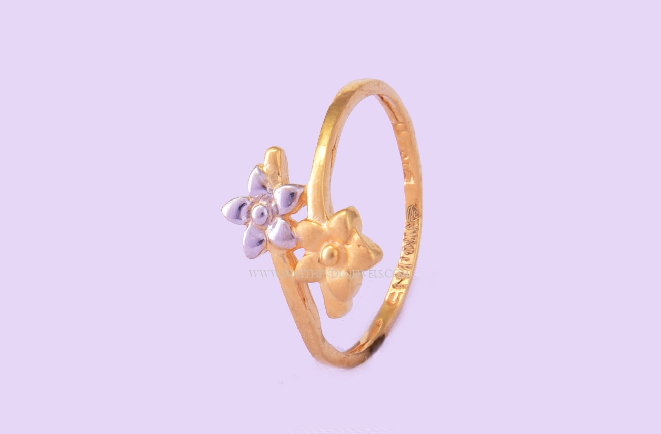 Gold Ring Design For Female Without Stone ~ South India Jewels