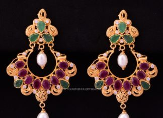 22K Gold Ruby Earrings From Bhima