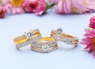 Gold American Diamond Ring Designs