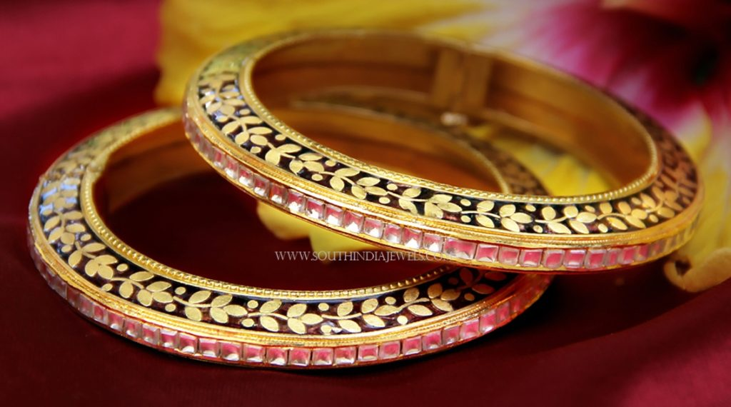 Antique Finish Diamond Bangle