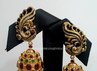 Antique Peacock Jhumka
