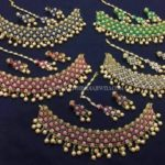 Colorful Short Choker Necklace Sets For Kids