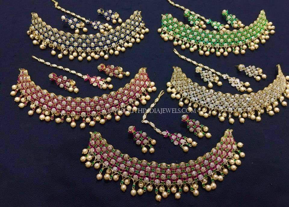 Colorful Short Choker Necklace Sets For Kids