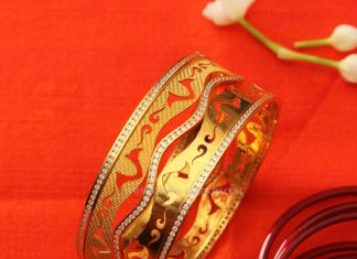 Designer Gold Statement Bangle