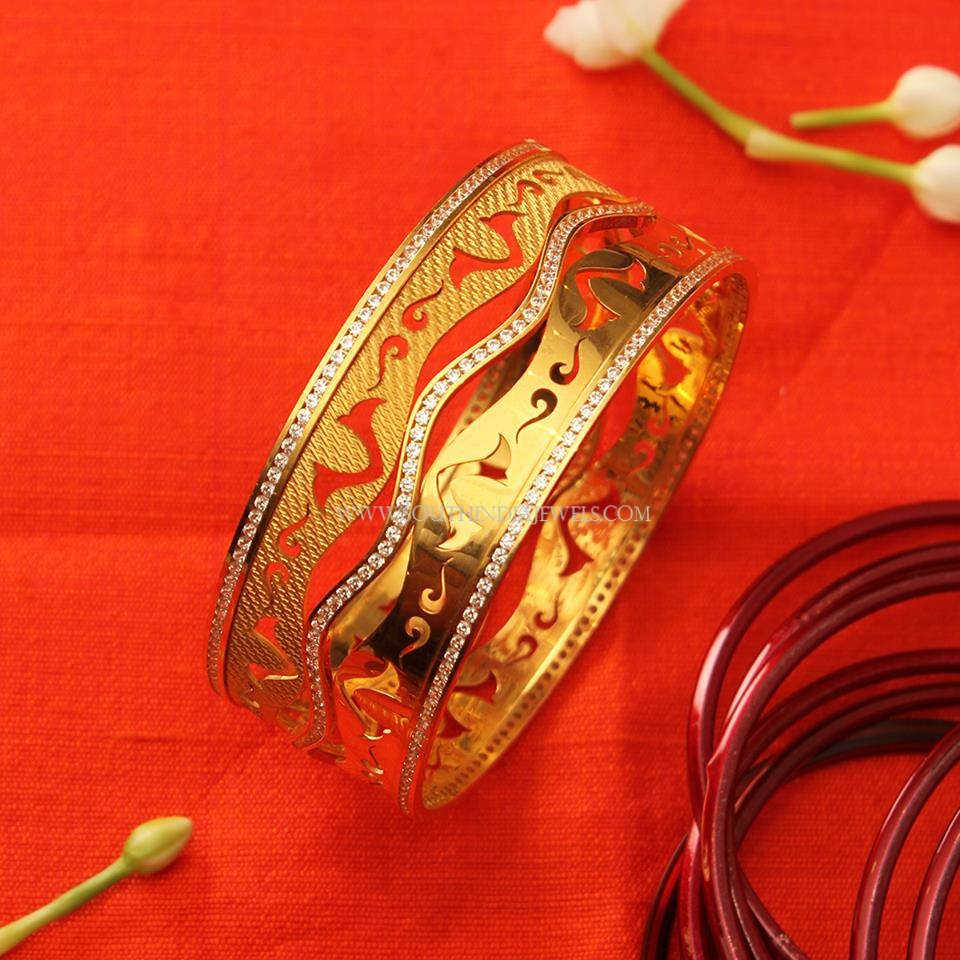 Designer Gold Statement Bangle
