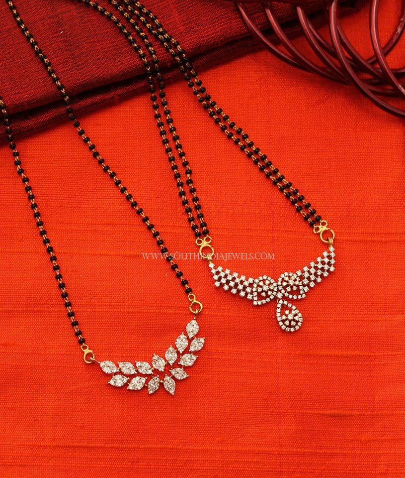 Diamond Mangalsutra Designs 2017