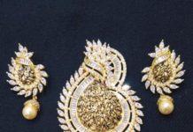 Diamond Pendant With Pearls