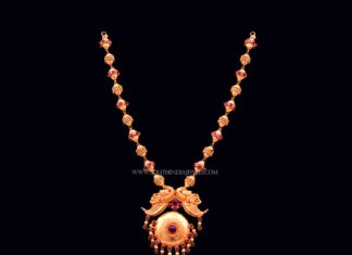 Gold Antique Beaded Necklace from Bhima