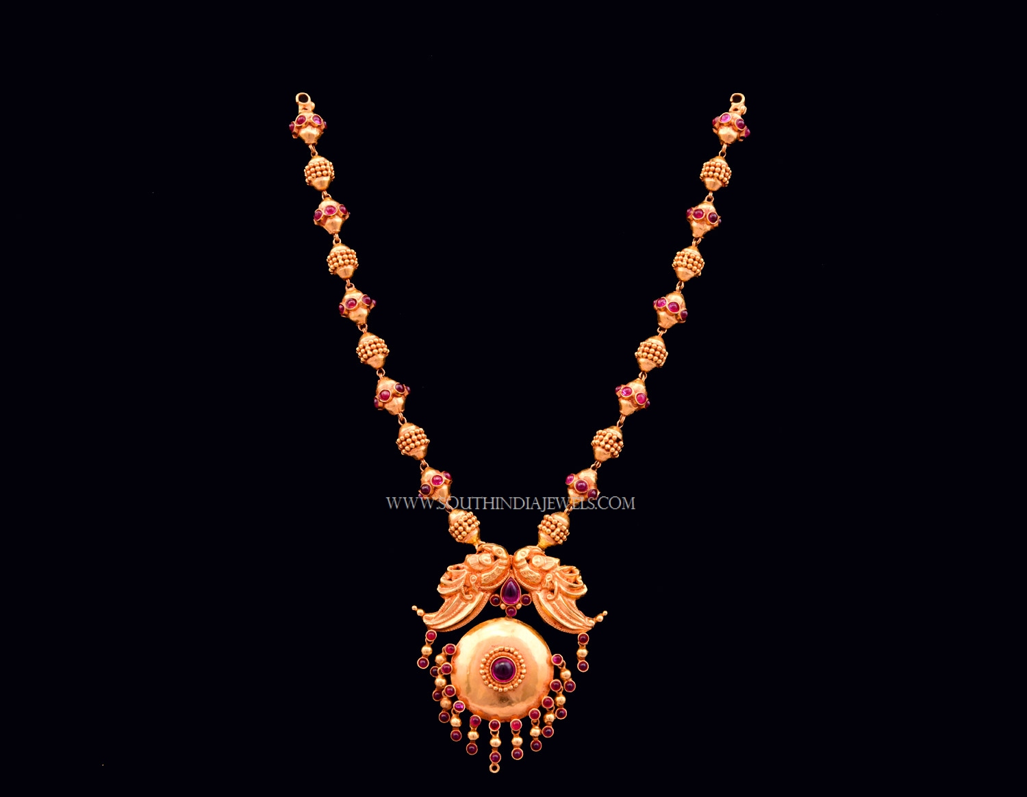 8a39af61b49c0 Gold Antique Beaded Necklace from Bhima ~ South India Jewels