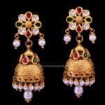 Latest Gold Antique Jhumka (2017) Design