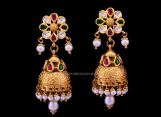 Latest Gold Antique Jhumka (2017) Design