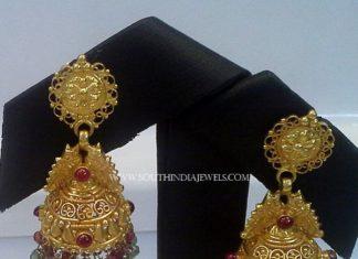 Gold Antique Jhumka From New Sri Vasavi