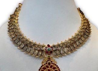 Gold Antique Oxidized Necklace
