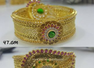Gold Designer Engagement Bangles