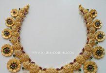 Gold Designer Floral Choker