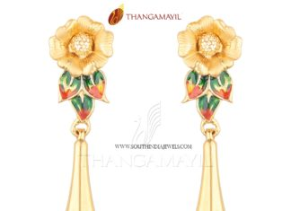 Gold Designer Floral Earrings Model 2017