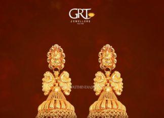 Gold Lakshmi Jhumka from GRT