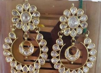 Gold Polki Earrings