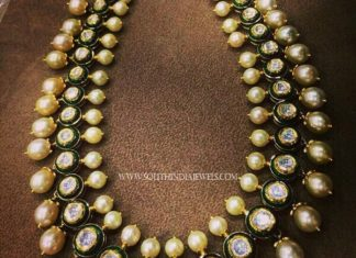 Gold Polki Necklace with Pearls