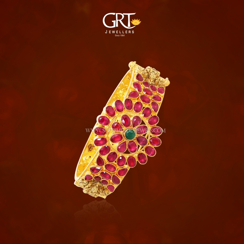 Gold Ruby Kada Bangle from GRT