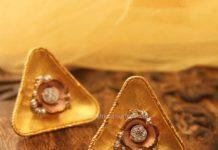 Gold Rustic Ear Studs