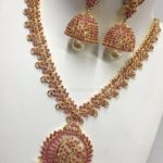 Imitation Short Ruby Necklace with Jhumka