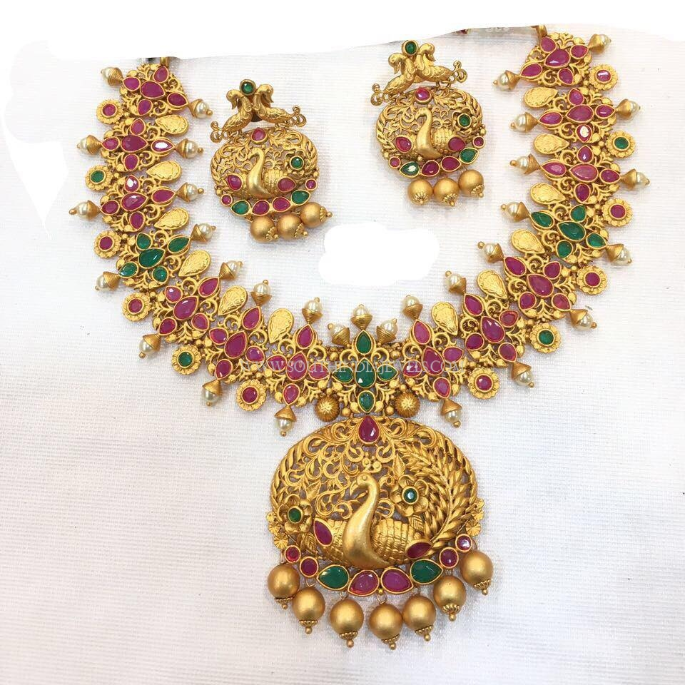 163a96bbb Latest Antique Imitation Necklace Set ~ South India Jewels