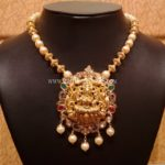 Light Weight Pachi Necklace With Lakshmi Pendant