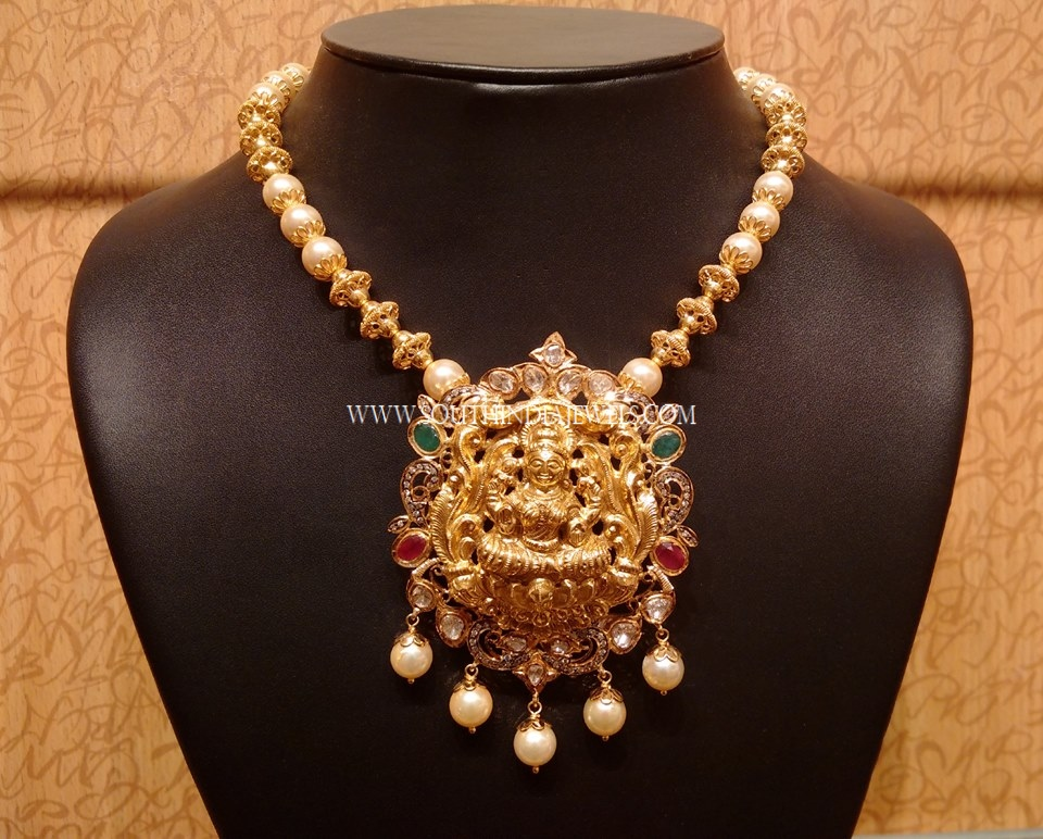 weight naj necklace gold jewels mala south pendant india light