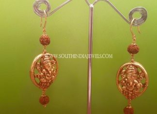 Gold Hoop Temple Earrings