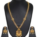 Gold Plated Pachi Stone Necklace Set With Price